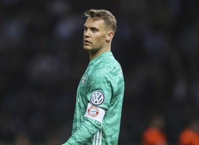 Bayern Munich goalkeeper Manuel Neuer.