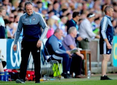 Dejection for Dublin hurling boss Mattie Kenny yesterday.