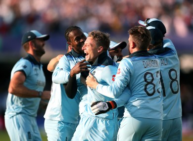 England celebrate at Lord's.