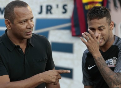 Forget Paris: Neymar Jr and his father.