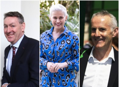 Irish MEPs Billy Kelleher, Maria Walsh and Ciarán Cuffe.