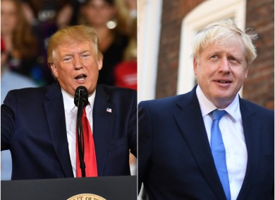 US President Donald Trump and Conservative Party leader Boris Johnson