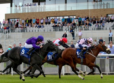 Roman Turbo, far right, won the Barronstown Maiden with Masteroffoxhounds (not pictured) back in fifth.