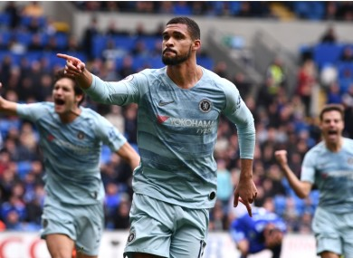 Ruben Loftus-Cheek celebrates for Chelsea.