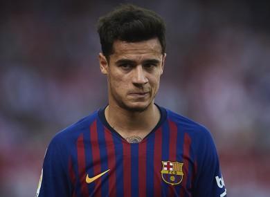 Barca midfielder Coutinho.