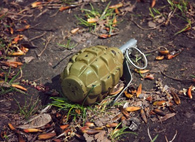 File photo of a 'Mills bomb' grenade.