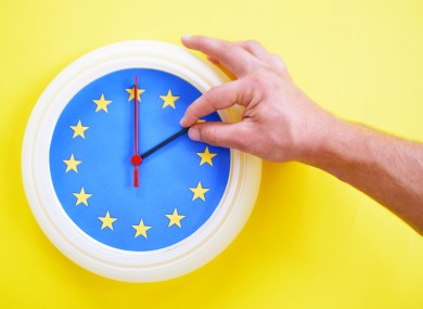 The government has indicated that it wants to avoid there being two time zones on the island of Ireland post Brexit.