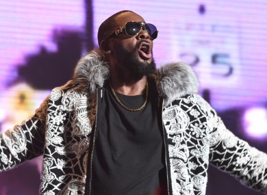 Stock image R Kelly during a performance earlier this year.