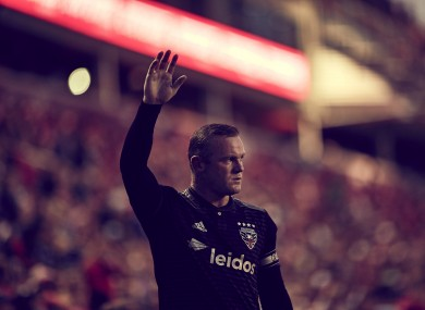 DC United striker, Wayne Rooney.