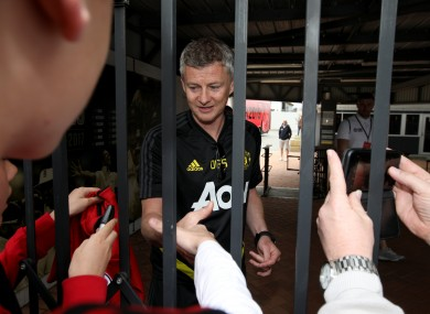 Solskjaer: United begin their pre-season tour on Saturday.