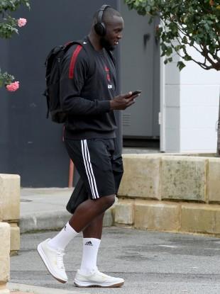 Romelu Lukaku at Man United training camp in Perth, Australia, this week.