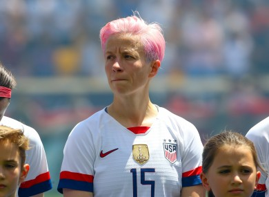 Rapinoe has become one of the faces of this summer's tournament.