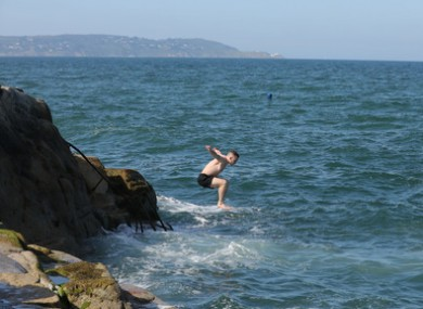 Swimmers at the 40 Foot in Dublin