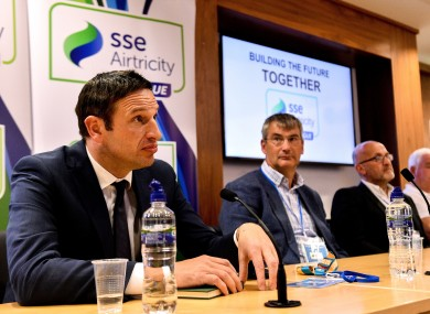 Noel Mooney pictured at yesterday's press conference.