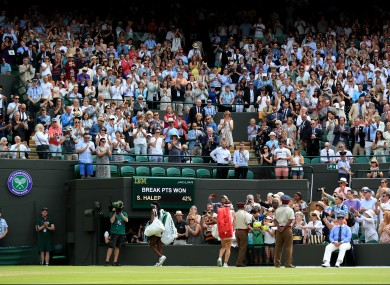Gauff received a standing ovation on Court One.