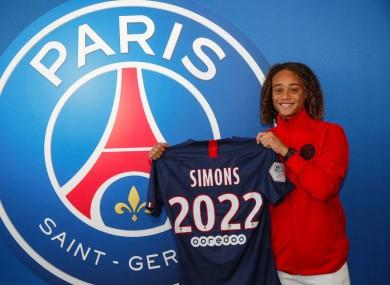 Simons with the PSG shirt.