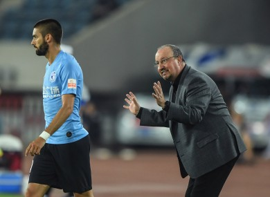 Benitez won his first game in charge of Dalian Yifang this week.