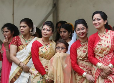 People taking part in India Day in 2016.