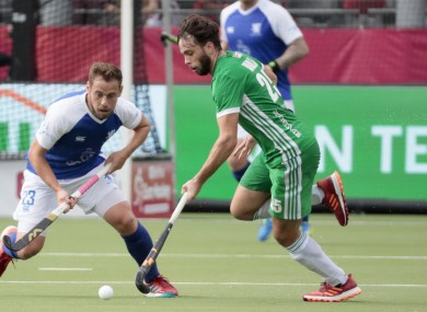 Daragh Walsh on the attack against Scotland.