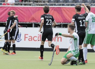 Niklas Wellen celebrates his early goal for Germany.