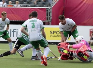 Ireland conceded four goals in a heavy defeat.