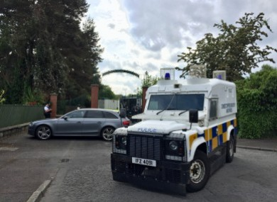 Police and army bomb disposal experts at Shandon Park Golf Club in east Belfast on 1 June.