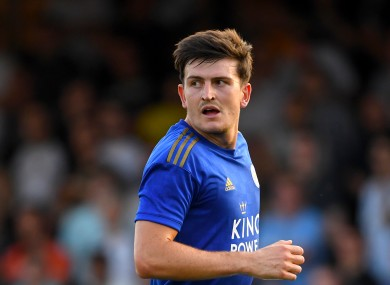 Maguire in pre-season action for Leicester last month.