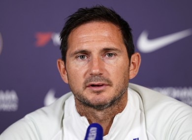 Lampard speaking at a press conference on Friday.