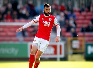 Dave Webster in action for St Patrick's Athletic.