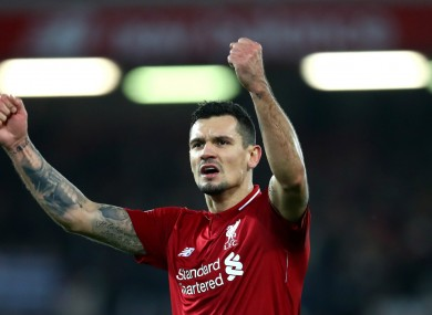 Liverpool defender Dejan Lovren.