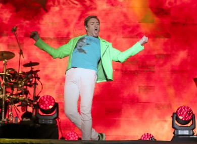 Duran Duran's SImon Le Bon playing the main stage at Electric Picnic 2017.