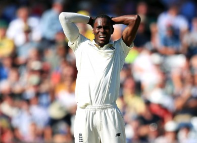 A dejected Jofra Archer.