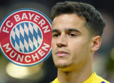 Former Liverpool star Coutinho is on his way to Bavaria.