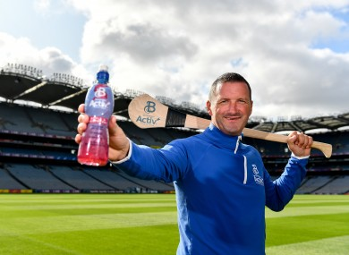 Brendan Cummins at the unveiling of Ballygowan Activ+ as the new Official Fitness Partner of the GAA/GPA yesterday.