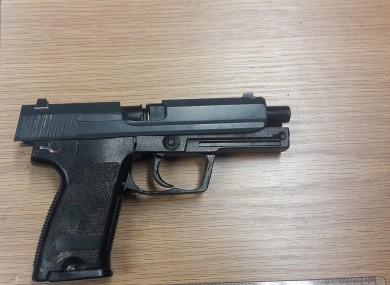 The gun that was seized.