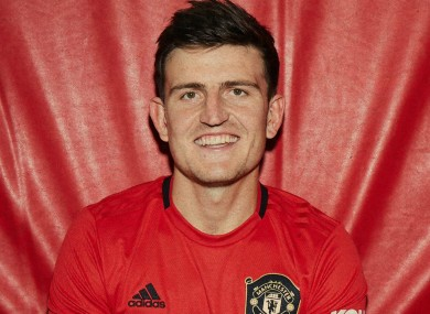 Manchester United recruit Harry Maguire.