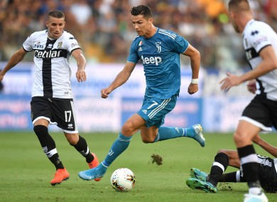 Ronaldo in action against Parma.