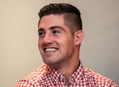 Joe Ward speaking at a press conference in Dublin to confirm his move to boxing's professional ranks.