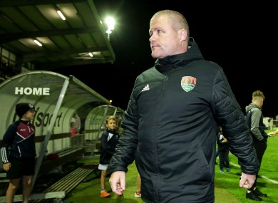 John Cotter leaving the pitch after losing to Galway United last week.