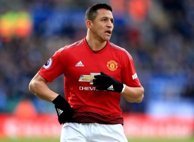 Sanchez scored three goals in 32 Premier League appearances for Man United.