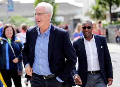 Mick McCarthy and his assistant Terry Connor were at last weekend's All-Ireland hurling final.