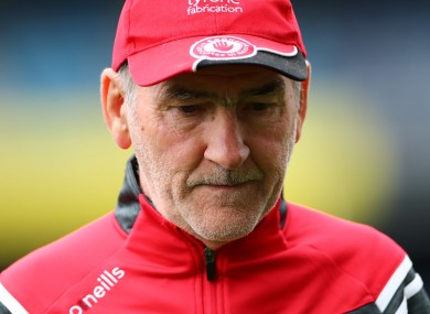 Tyrone football boss Mickey Harte after yesterday's game.