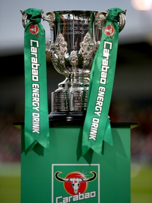 A view of the Carabao Cup trophy.
