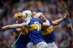 Padraic Maher, James Barry, Séamus Kennedy and Ronan Maher celebrate at the final whistle