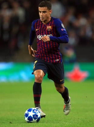 Barcelona's Philippe Coutinho.
