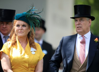 Prince Andrew at Royal Ascot this year.