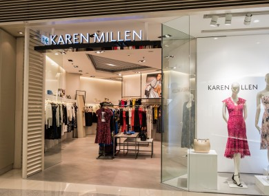 File photo. Karen Millen operates two stores in Dundrum and Kildare Village.
