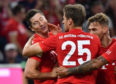 Lewandowski opened his account for the new season on the opening night.