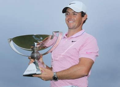 Rory McIlroy fired a four-under-par 66 to win yesterday.