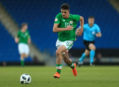 Tottenham's Troy Parrott has previously represented Ireland at underage level.